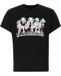 Amiri Varsity Palms Print T-shirt - Black
