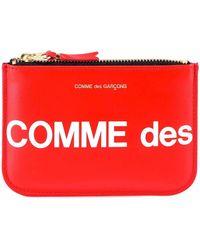 COMME DES GARÇONS PLAY Zip-up Logo Wallet - Red