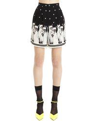 Undercover Cat Print Shorts - Black