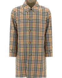 Burberry Cotton And Recycled Polyester Reversible Trench Coat - Multicolour