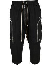 Rick Owens Bela Drop Crotch Cropped Pants - Black