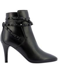 Valentino Garavani Rockstud Ankle Boots - Black