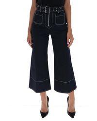 Miu Miu Belted Flared Jeans - Blue