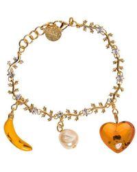 Marni Brass Bracelet With Pendant Details - Metallic