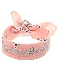 Fallon 'monarch Diamante' Choker - Pink