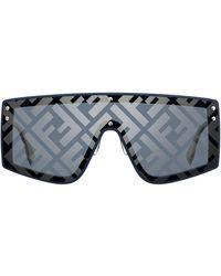 Fendi Monogram Mask Frame Sunglasses - Grey