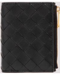 Bottega Veneta Intrecciato Zipped Bifold Wallet - Black