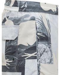 Heron Preston Patchwork Printed Swim Trunks - Gray