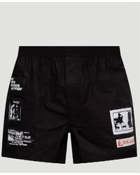 Raf Simons Patches Boxer Shorts - Black