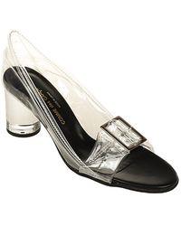 Comme des Garçons Buckle Detail Transparent Court Shoes - Multicolour