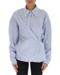 Lemaire Twisted Classic Collar Shirt - Blue