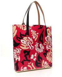 Marni Abstract Print Tote Bag - Red