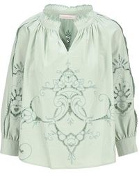 See By Chloé Tablecloth Embroidery Blouse - Blue