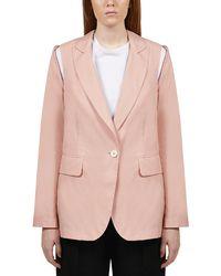 MM6 by Maison Martin Margiela Cut-out Blazer - Pink