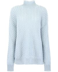 Jil Sander Turtleneck Knitted Sweatshirt - Blue