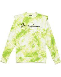 Versace - Logo Tie-dye Sweatshirt - Lyst