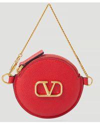 Valentino Vlogo Coin Purse - Red