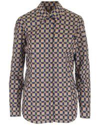e5ac2451a3b5 Lyst - Burberry Brit Check Print Cotton Shirt in Pink