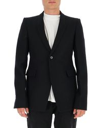 Rick Owens Single-breasted Blazer - Black