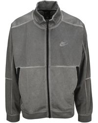 Nike - Sportswear Logo Embroidered Jacket - Lyst