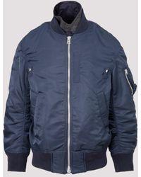 Sacai Layered Bomber Zip Jacket - Blue