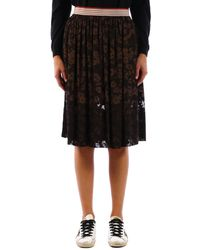 Stella McCartney Flowered Skirt - Black