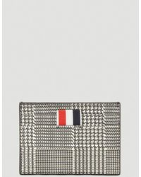 Thom Browne Prince Of Wales Print Single 4-bar Card Holder - Multicolour