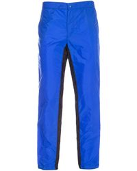 Prada Panelled Drawstring Trousers - Blue