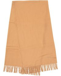 Tom Ford Logo Embroidered Scarf - Brown