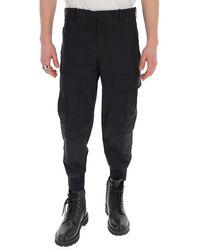 Neil Barrett Tapered Cargo Pants - Black