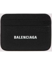 Balenciaga Cash Logo Print Cardholder - Black