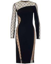 Stella McCartney Arielle Polka Dot Sheer Dress - Black