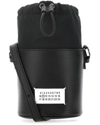Maison Margiela 5ac Micro Drawstring Bucket Bag - Black