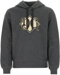 Dolce & Gabbana Cotton Sweatshirt Uomo 46 - Grey