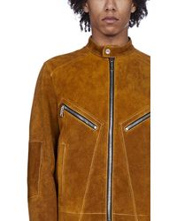 DSquared² Zip Detail Leather Jacket - Brown