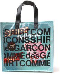 Comme des Garçons Printed Shopping Tote Bag - Multicolour