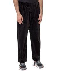 White Mountaineering Corduroy Wide-leg Trousers - Black