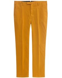 PT01 Mid Rise Straight Leg Trousers - Yellow