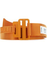 Heron Preston Logo Jacquard Tape Belt - Orange