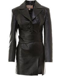 Matériel Belted Long-sleeved Dress - Black