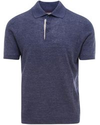 Brunello Cucinelli Basic Polo Shirt - Blue