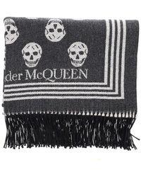Alexander McQueen Skull Biker Blanket Scarf - Multicolour
