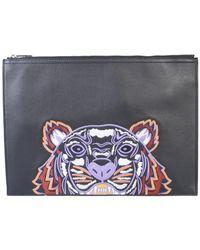 KENZO Tiger Logo Pouch - Black