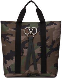 Valentino Vlogo Shopper Bag - Black
