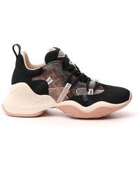 Fendi Low-top Chunky Sole Sneakers - Black