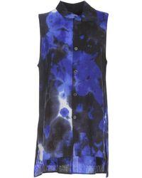 Y's Yohji Yamamoto Sleeveless Tie-dye Shirt - Blue