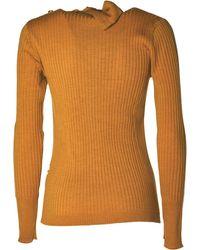 Barena Rib-knit Long-sleeve Jumper - Yellow