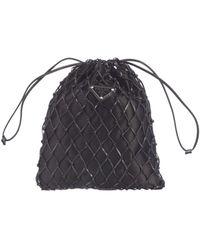 Prada Mesh Chained Pouch Bag - Black