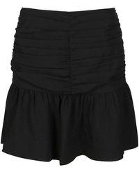 Ganni Creped Mini Skirt - Black