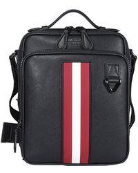 Bally Stripe Detail Shoulder Bag - Black